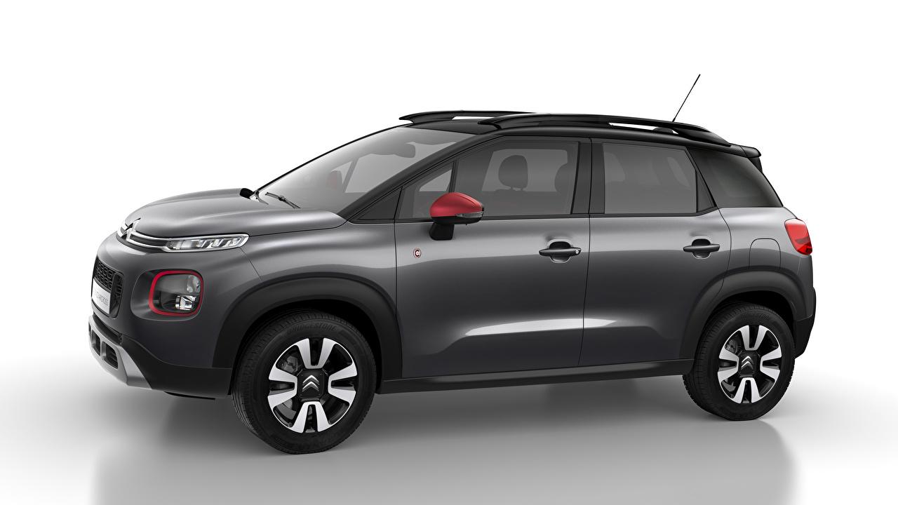 Desktop Hintergrundbilder Citroen C-Series, 2020, C3 Aircross Grau Seitlich automobil Metallisch graue graues auto Autos