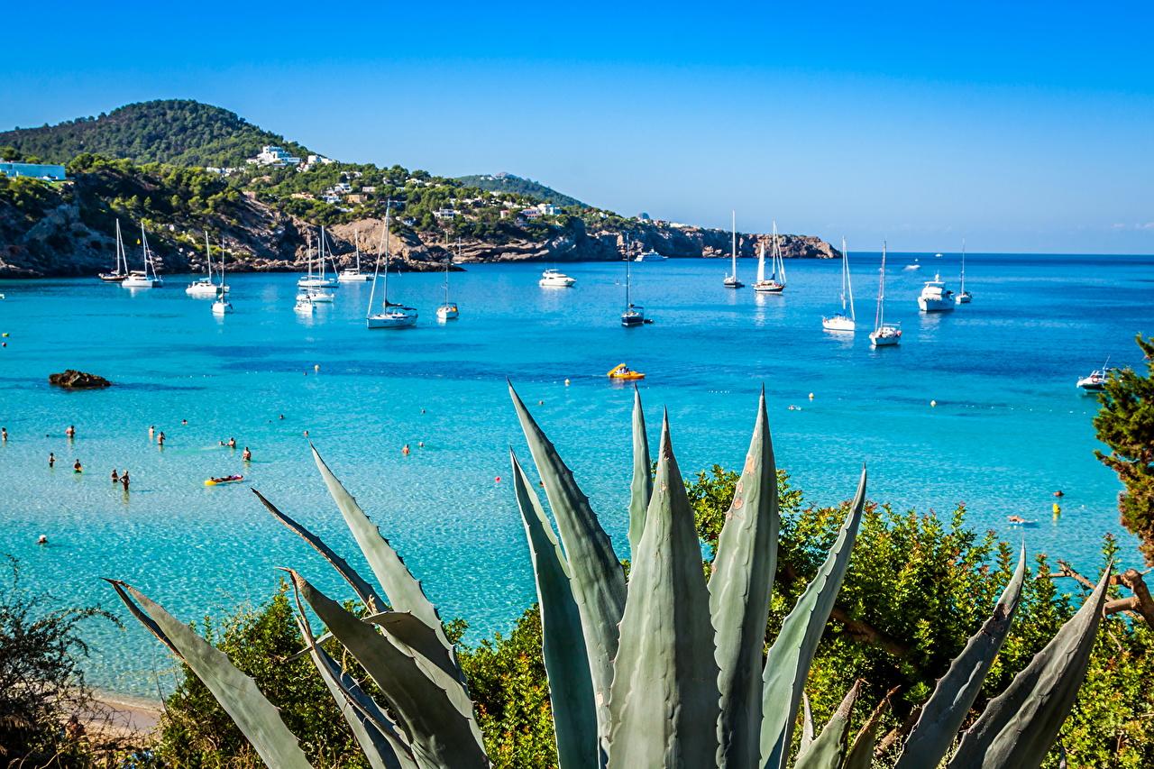 Sfondi Spagna Ibiza Mare Natura Paesaggio Veliero