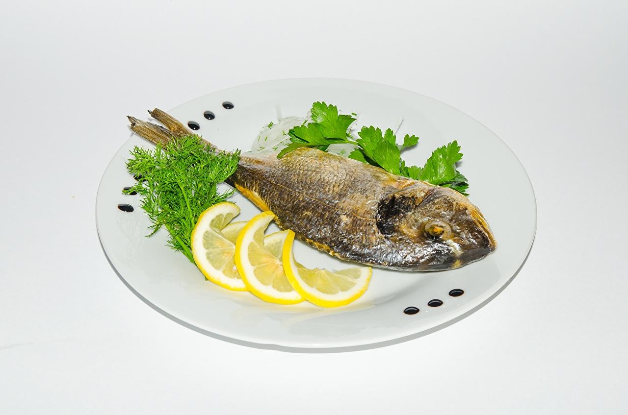 Desktop Wallpapers Lemons Fish - Food Food Plate