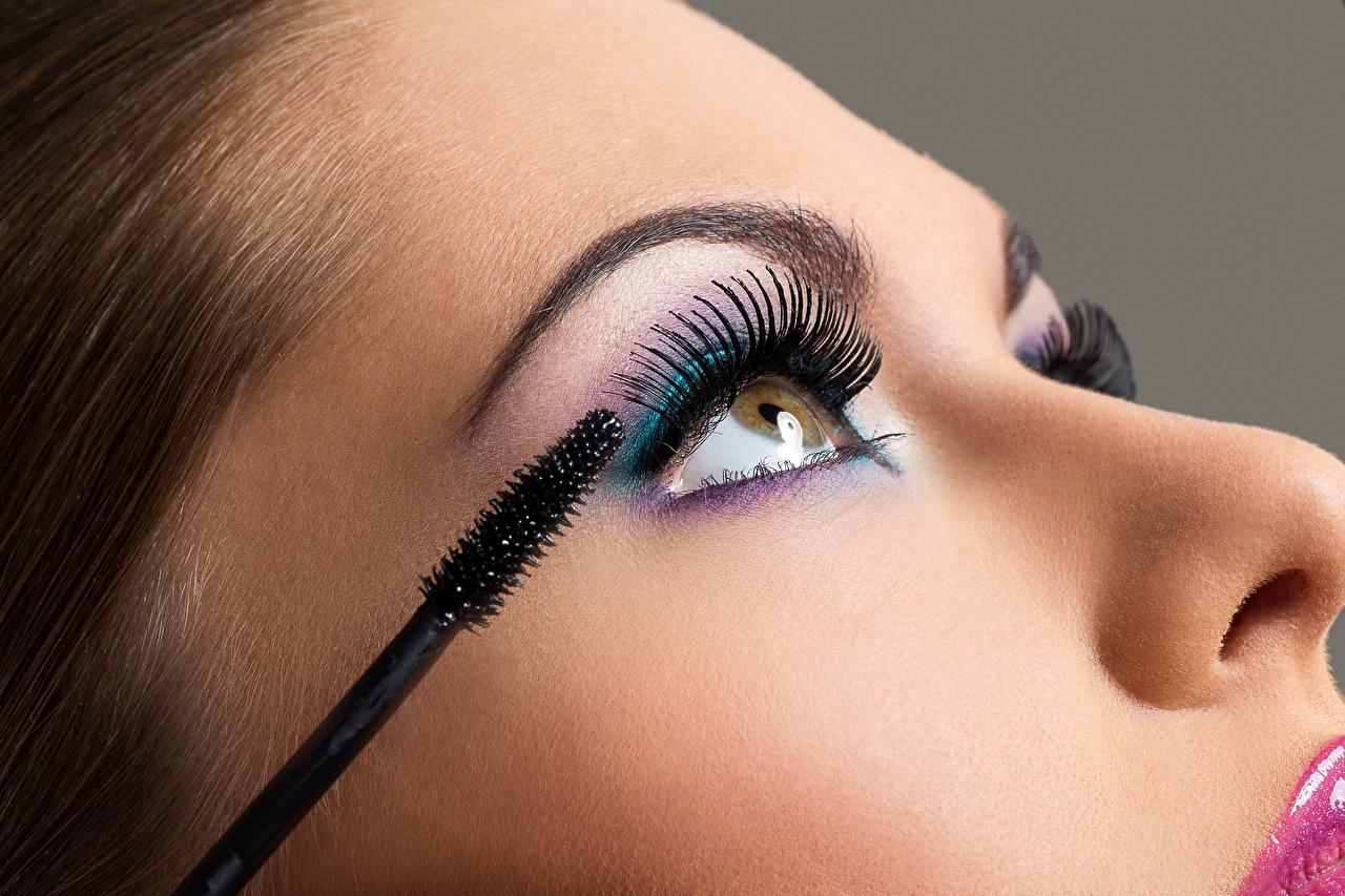 Cílios De perto Modelo Face Maquilhagem jovem mulher, mulheres jovens, moça, Rosto Meninas