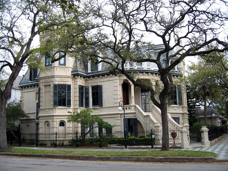 Bilder amerika Galveston Utah Victorian houses Herrgård Grenar Hus Städer Formgivning USA stad byggnad byggnader Design