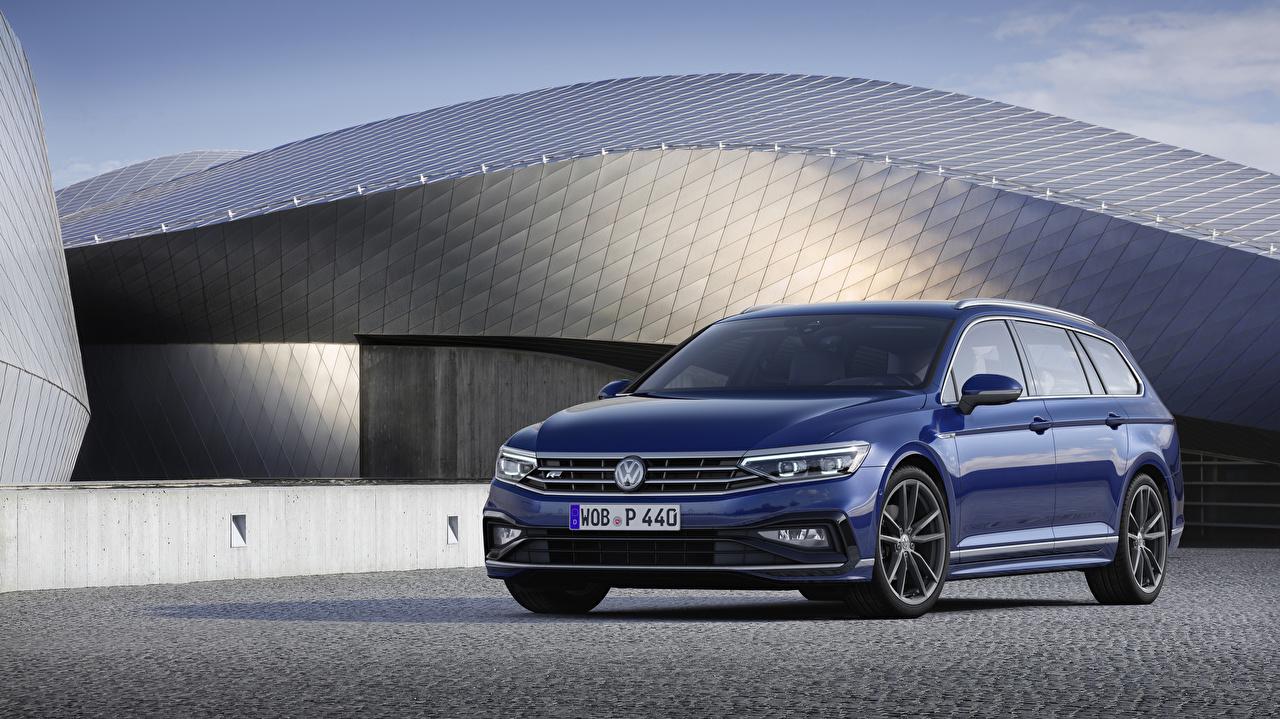 Photos Volkswagen 2019 Passat R-Line Variant Worldwide Blue Cars Metallic auto automobile