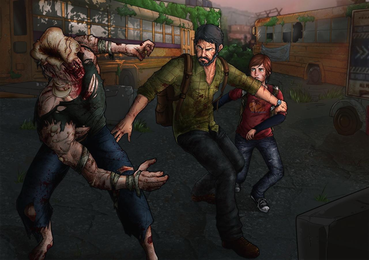 Photos The Last of Us Zombie Men Ellie, Joel vdeo game