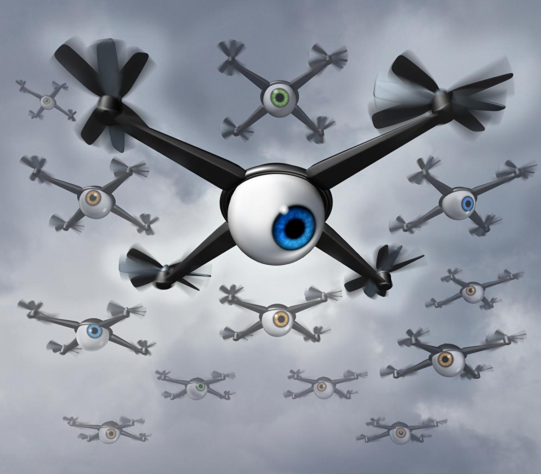 UAV Beaucoup Quadricoptère Oeils Caméra vidéo yeux, quadrirotor Aviation