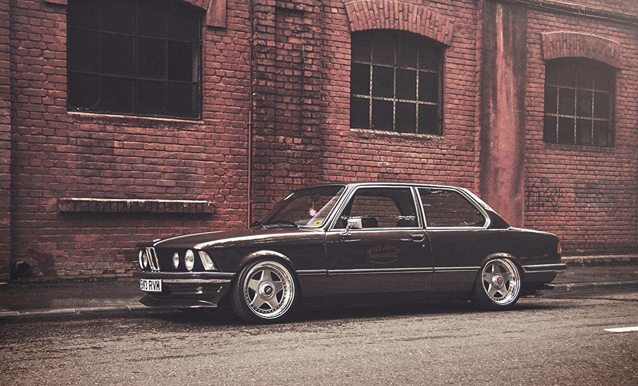 Wallpaper BMW E21 Black Made of bricks walls automobile Wall Cars auto