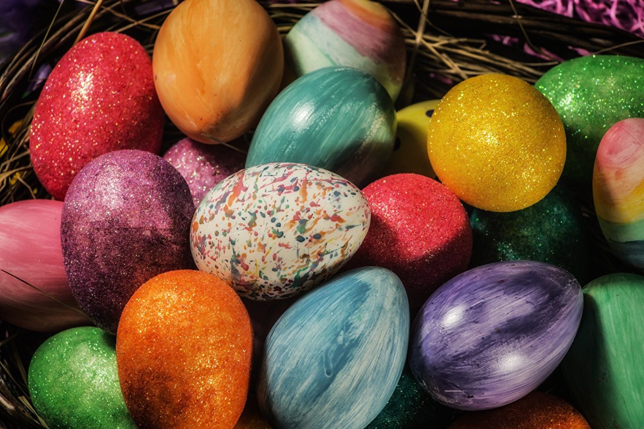 Pictures Easter Multicolor Eggs egg