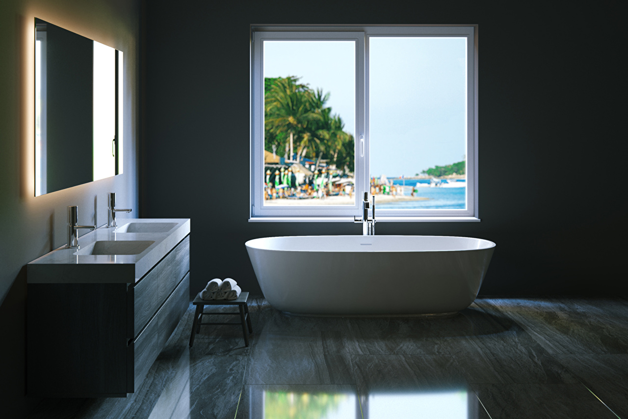 Foto Badezimmer Innenarchitektur Fenster Design