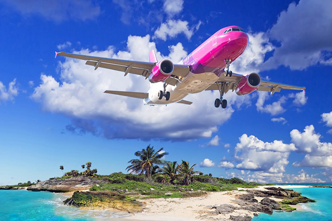 Foto Flugzeuge Verkehrsflugzeug Start Luftfahrt Tropen Flug Wolke Luftfahrt