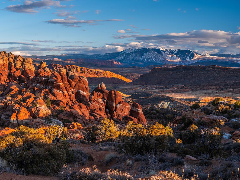 、アメリカ合衆国、公園、山、風景写真、Arches National Park, Utah、岩、岩石、自然、
