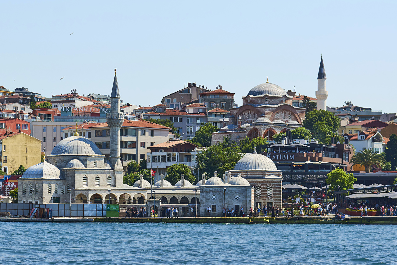 Wallpaper Istanbul Turkey Coast Cities Building Houses