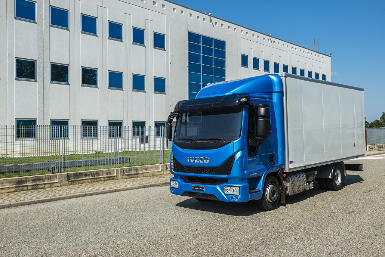 Photo IVECO lorry EuroCargo 75-210, 2015 Blue Cars Trucks auto automobile