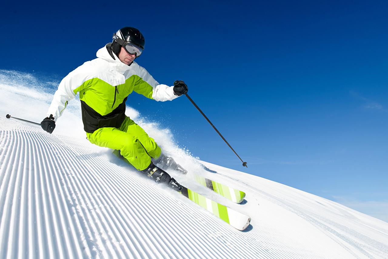 Wallpaper Man Helmet Physical exercise Sport Winter Snow Skiing Glasses Uniform Men Workout sports athletic eyeglasses