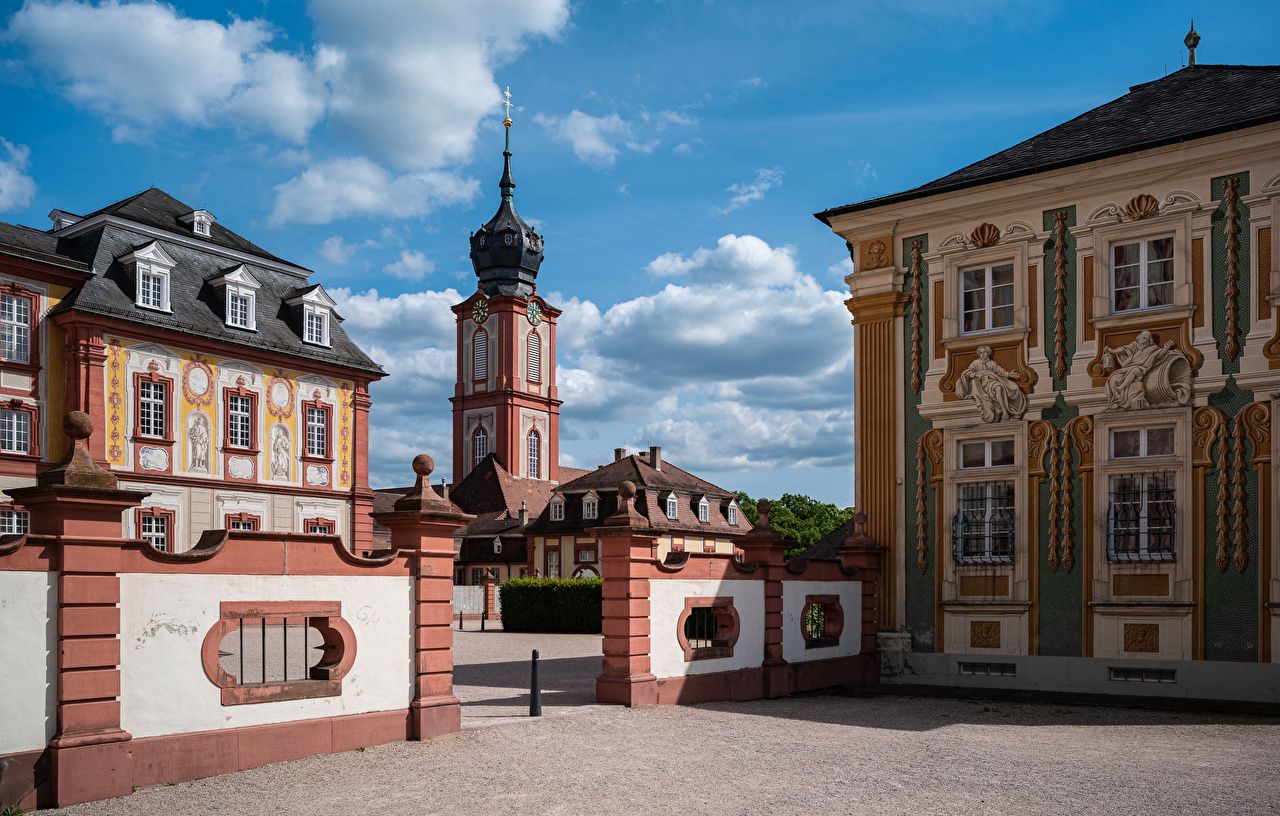 Photos Palace Germany Schloss Bruchsal Houses Cities Building