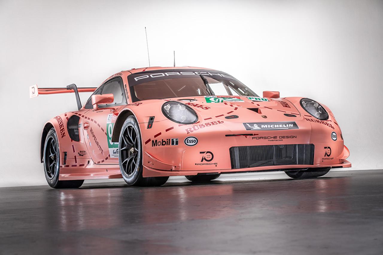 Images Tuning Porsche 2018 911 RSR Pink color Cars auto automobile