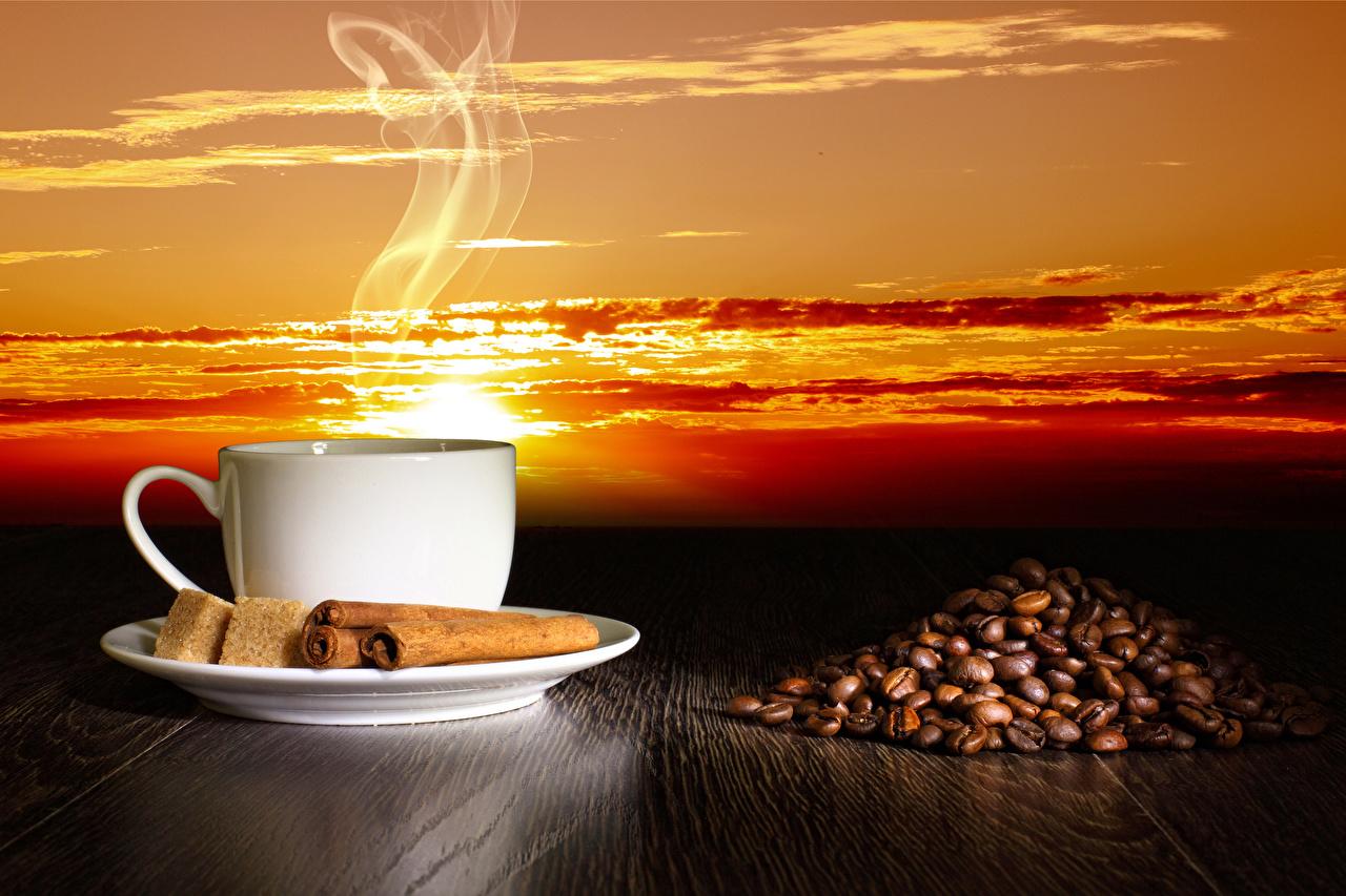 Fotos Zucker Kaffee Zimt Getreide Tasse Dampf Lebensmittel