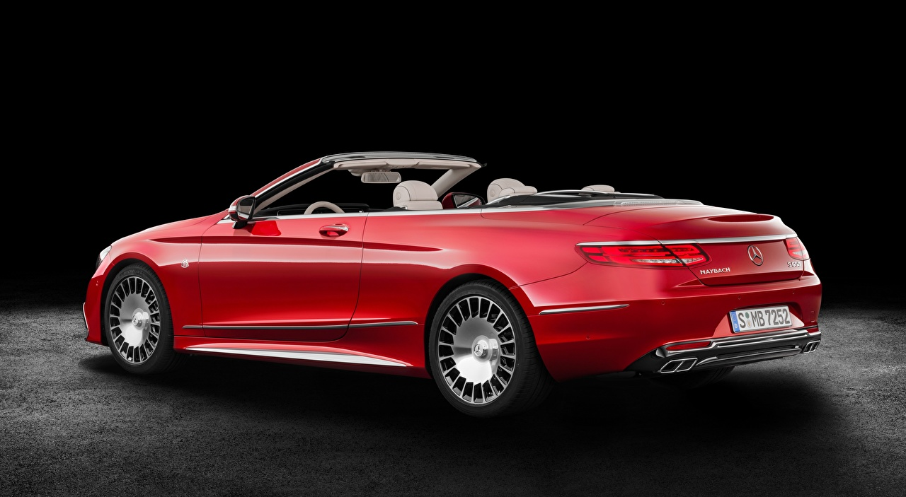 Photos Maybach Mercedes-Benz S 650, Cabriolet, 2017 Convertible Red auto Cabriolet Cars automobile
