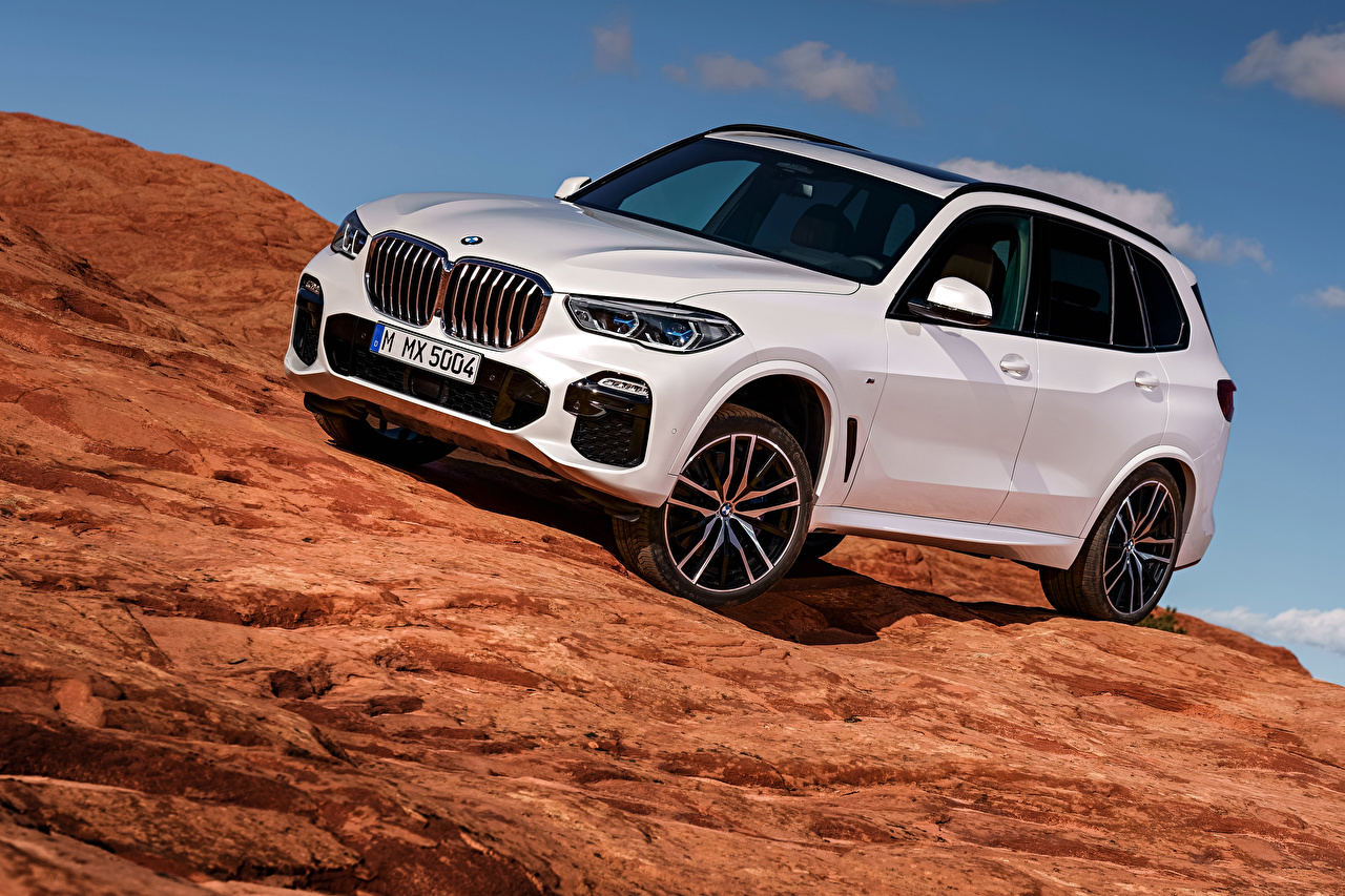 Photo BMW 2018 X5 xDrive30d M Sport Worldwide White automobile auto Cars