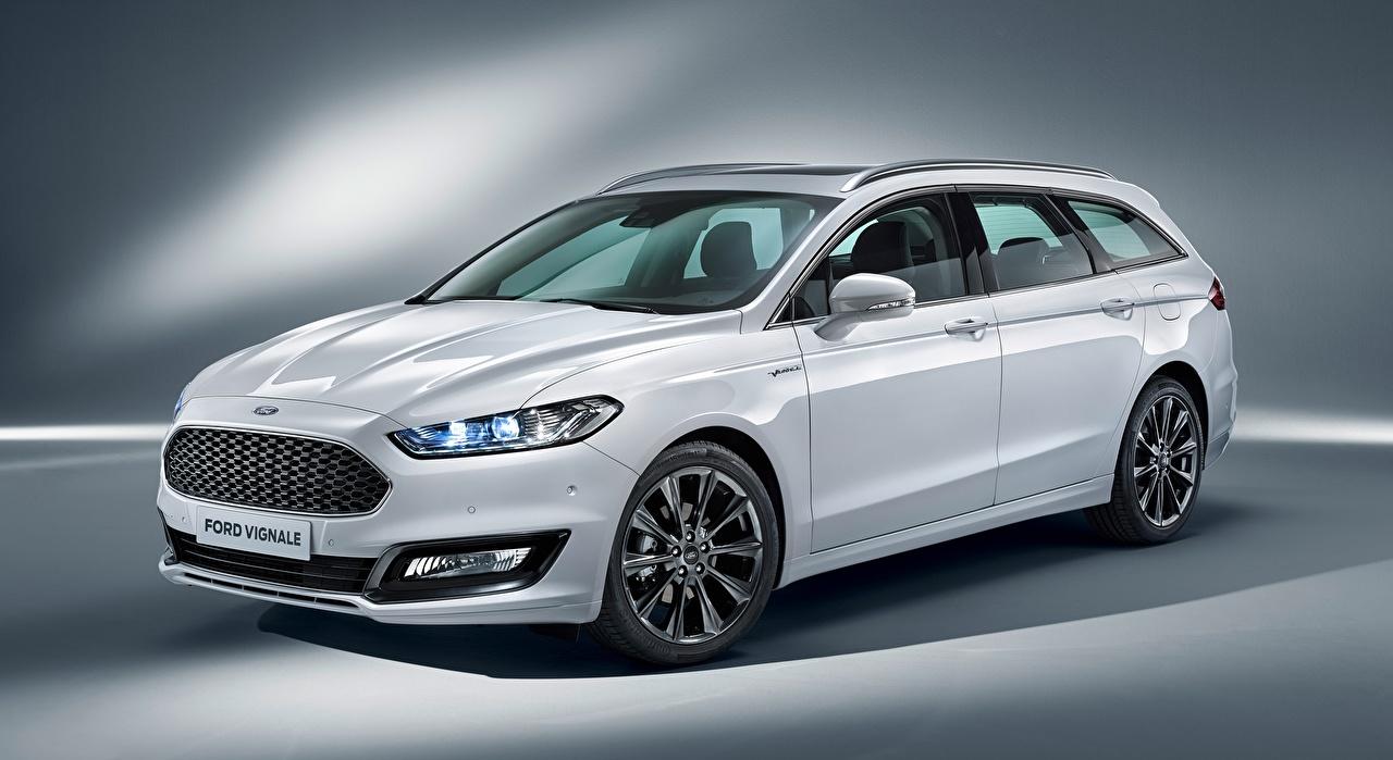 Image Ford Estate car Mondeo, Turnier Vignale, 2016 White Cars Station wagon auto automobile