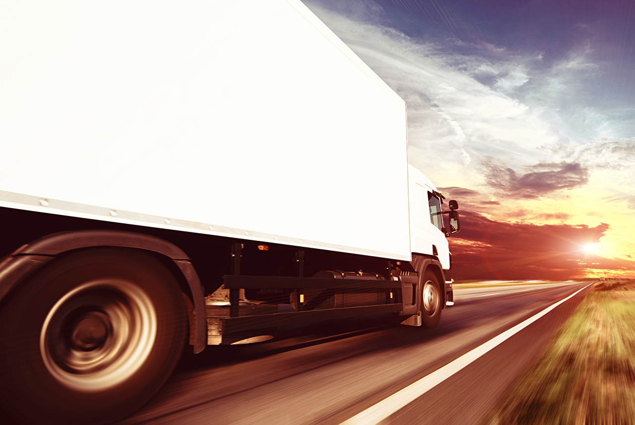 Picture lorry White Roads moving auto Trucks Motion riding driving at speed Cars automobile