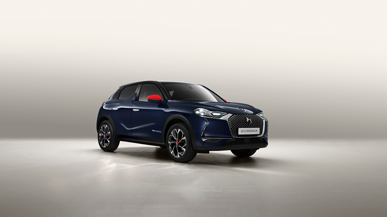 Photos French Crossover DS 3 Crossback, 2020 Blue Cars Metallic CUV auto automobile