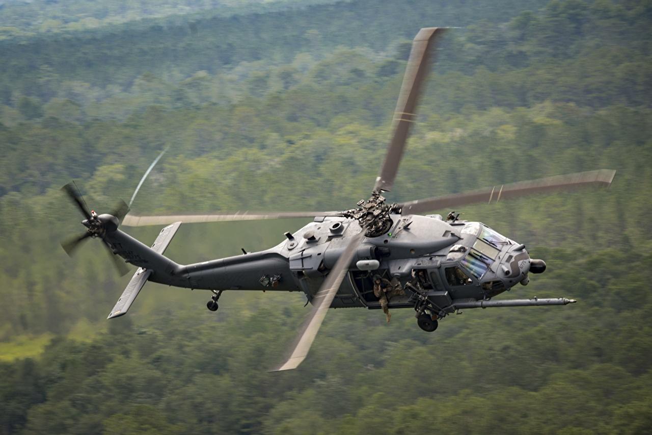 Bilder Hubschrauber Bokeh Flug Luftfahrt unscharfer Hintergrund
