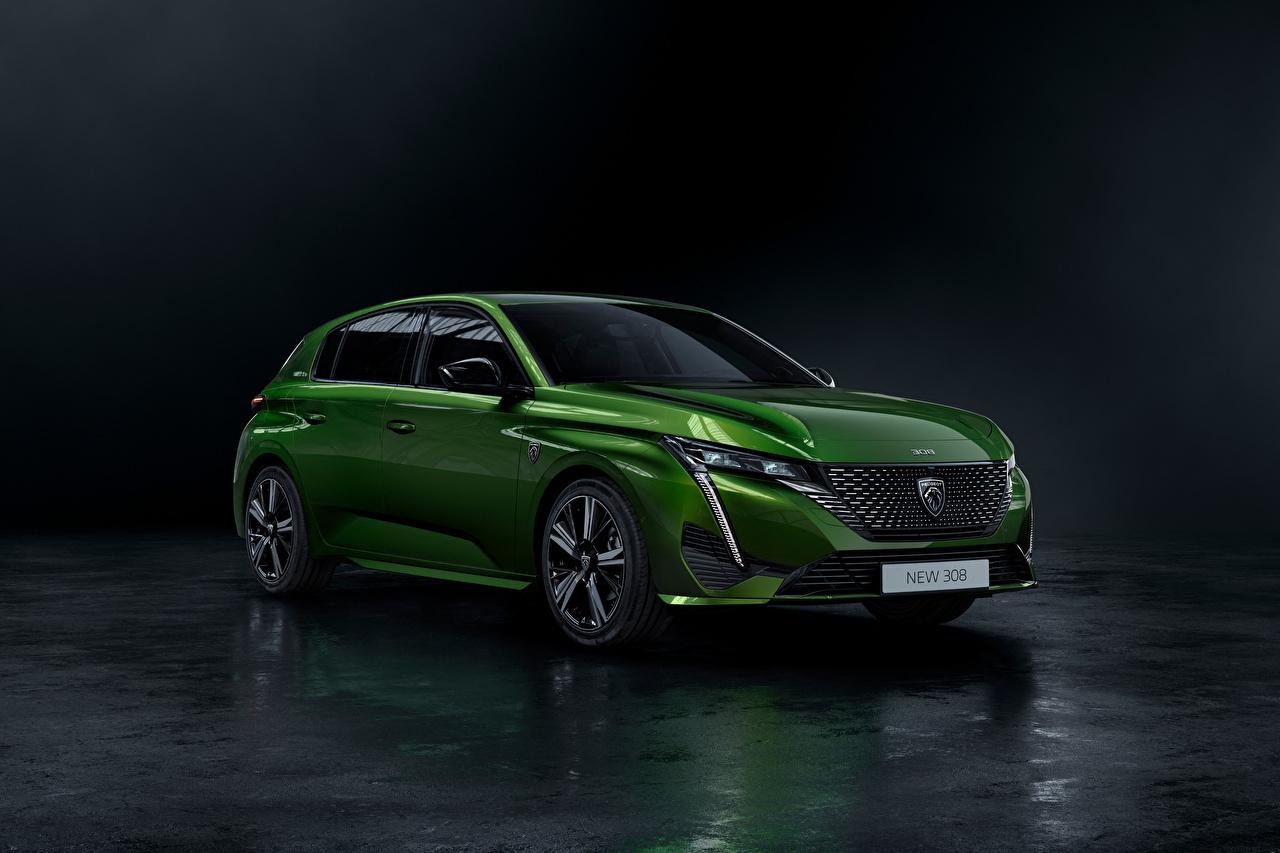 Photo Peugeot 308 HYBRID, Worldwide, 2021 Hybrid vehicle Green Metallic automobile Cars auto