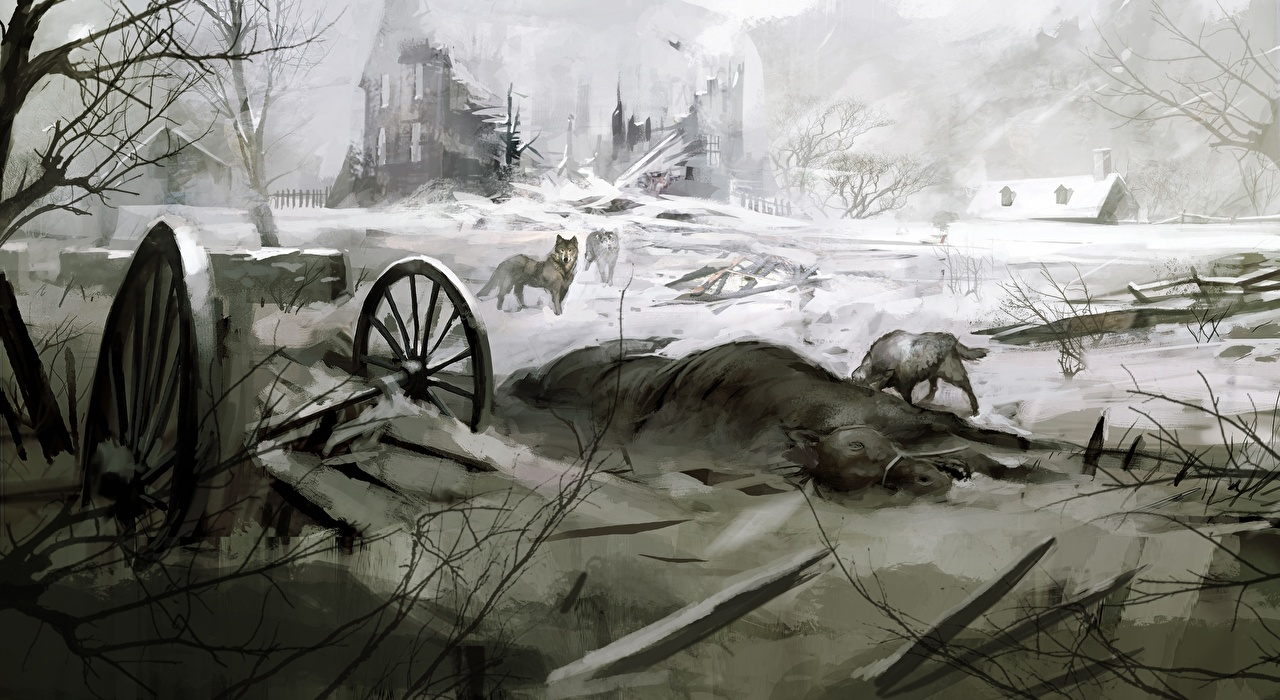 Desktop Wallpapers Assassin's Creed Assassin's Creed 3 Village Ruins vdeo game Games