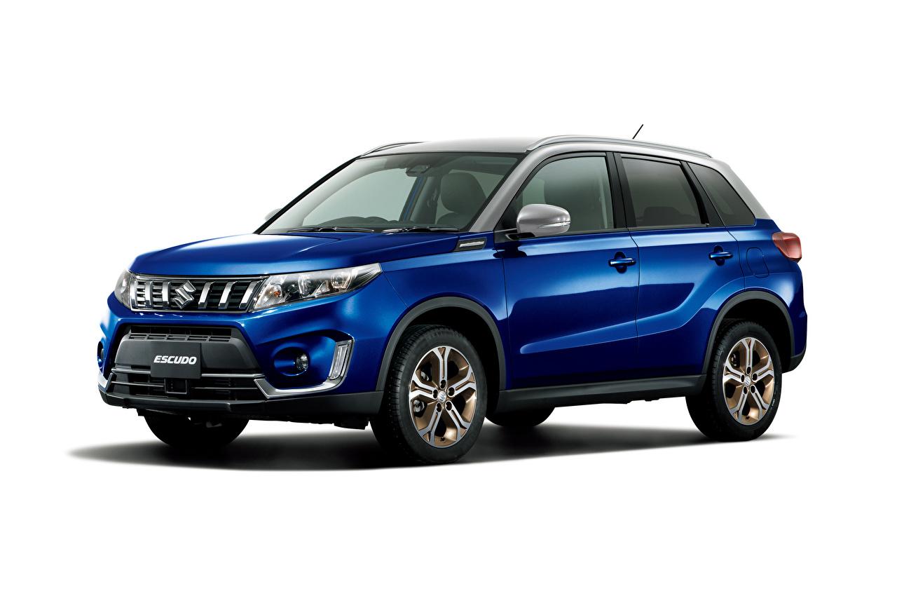 Sfondi Suzuki - Cars Crossover Escudo S Limited, 2020 Blu colori metallico automobile Sfondo bianco CUV Auto macchina macchine autovettura Metallizzato