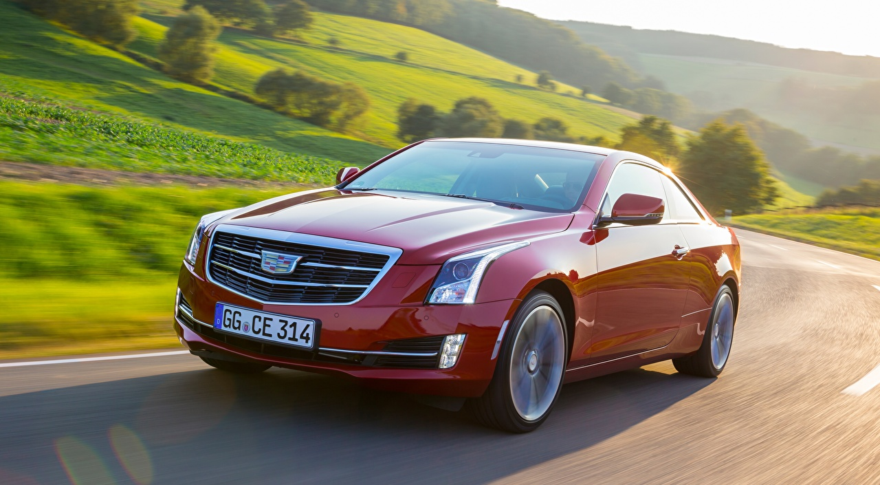 Image Cadillac blurred background Red Motion Metallic automobile Bokeh moving riding driving at speed Cars auto