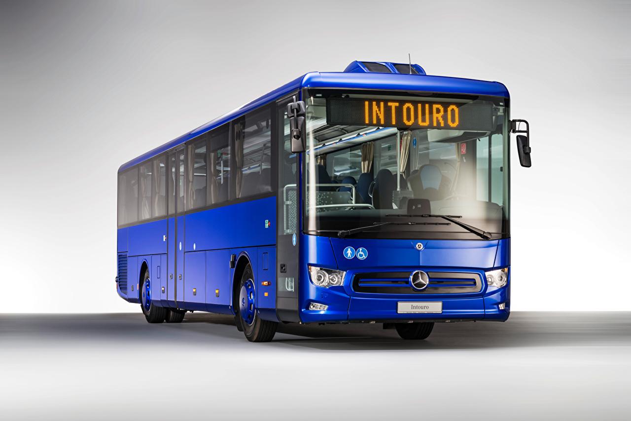Fotos von Omnibus Mercedes-Benz Intouro M, 2020 Blau automobil auto Autos