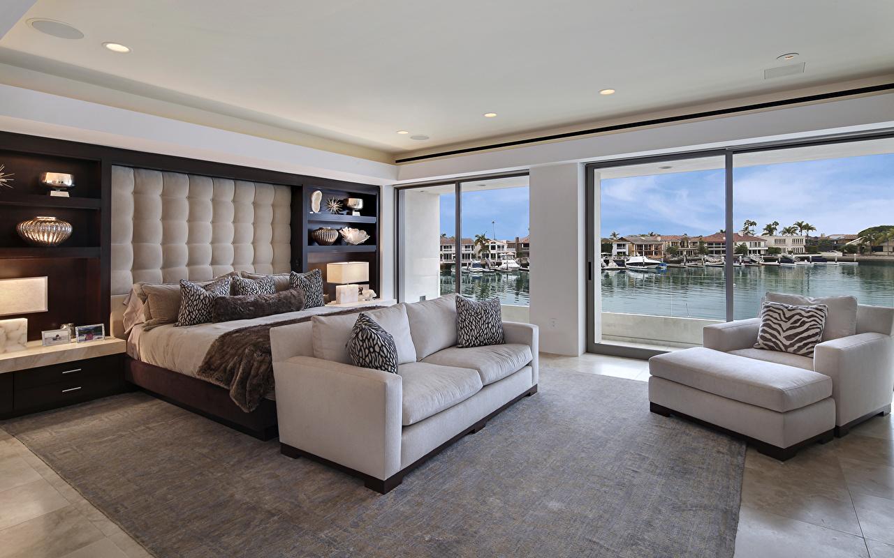 Fotos Von Schlafzimmer Innenarchitektur Bett Sofa Design