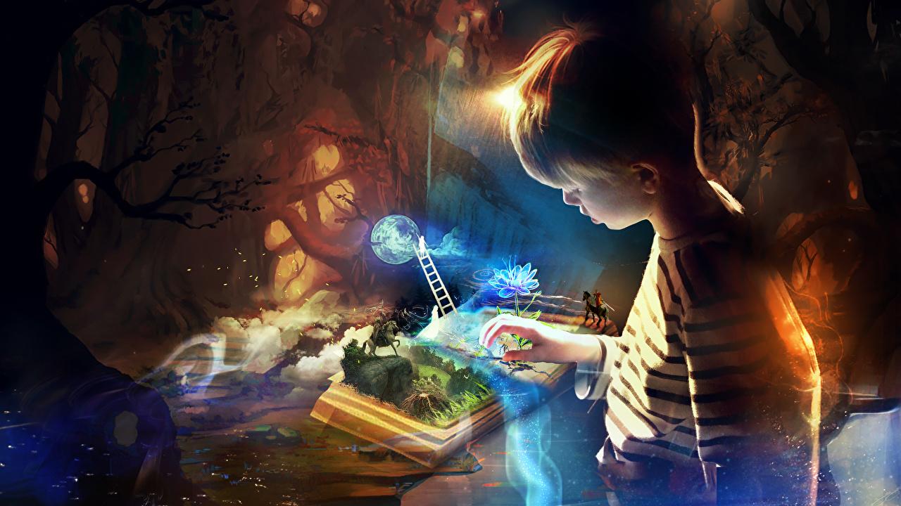 Fonds D Ecran Magie Garcon Livre Fantasy Enfants Telecharger