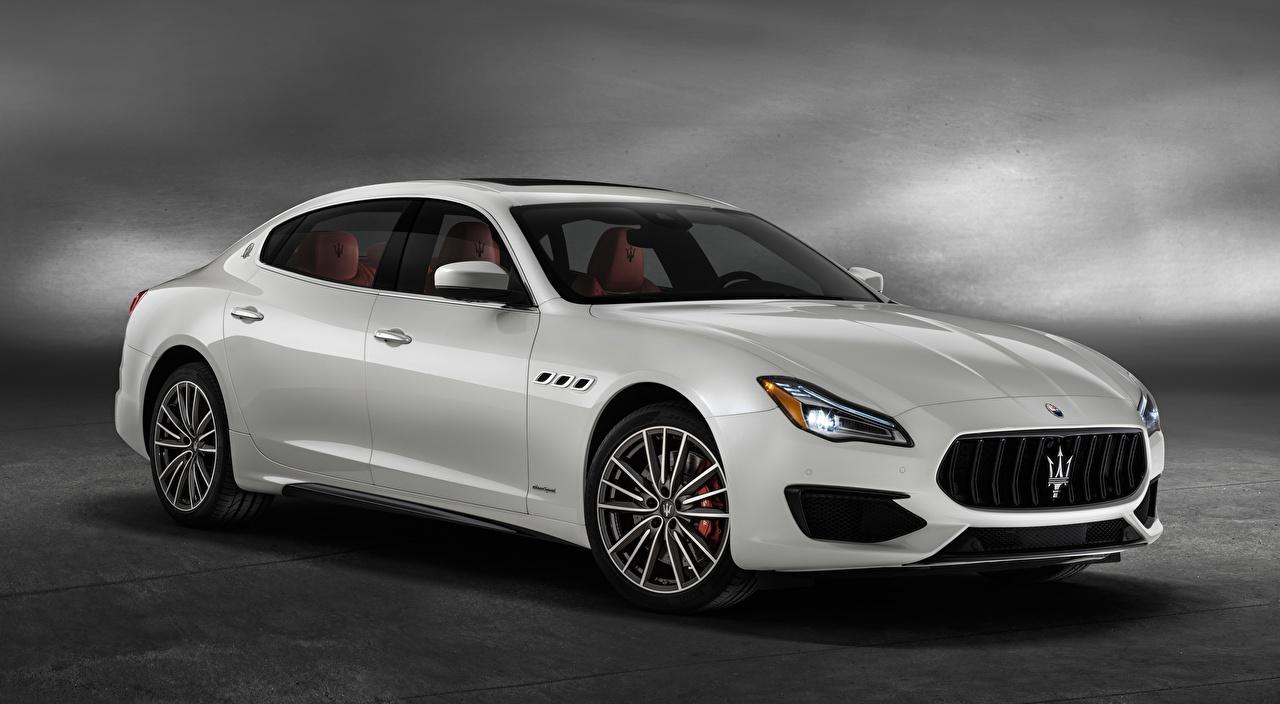 Images Maserati Quattroporte, GTS, GranSport, US-spec, 2018 Sedan White auto Metallic Cars automobile