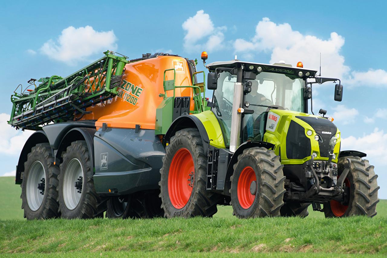 Картинки Сельскохозяйственная техника Трактор 2015-20 Claas Axion 820 тракторы трактора