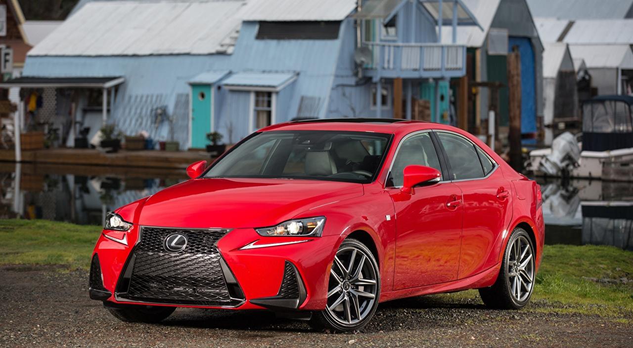 Desktop Wallpapers Lexus IS 200t F, SPORT, CA-spec, 2017 Sedan Red Cars Metallic auto automobile