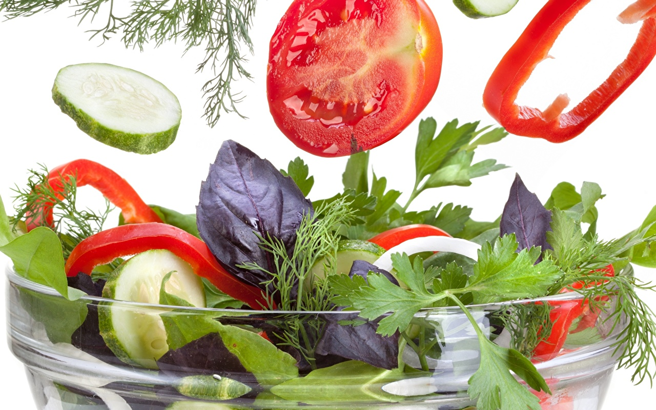 Images Tomatoes Cucumbers Dill Food Salads Bell pepper Closeup