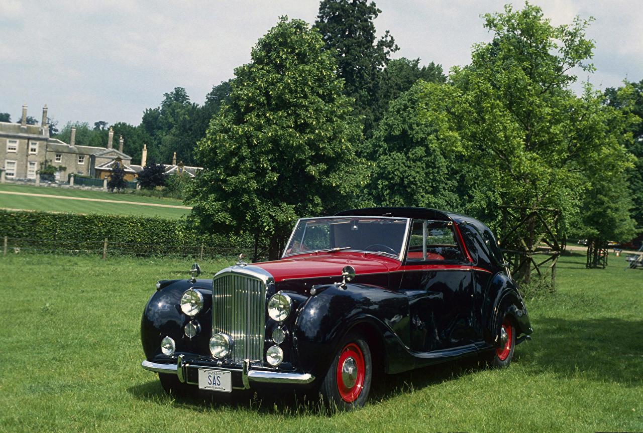 Wallpaper Bentley 1949 Mark VI Sedanca Coupe by Gurney Nutting Retro Black Cars Metallic vintage antique auto automobile