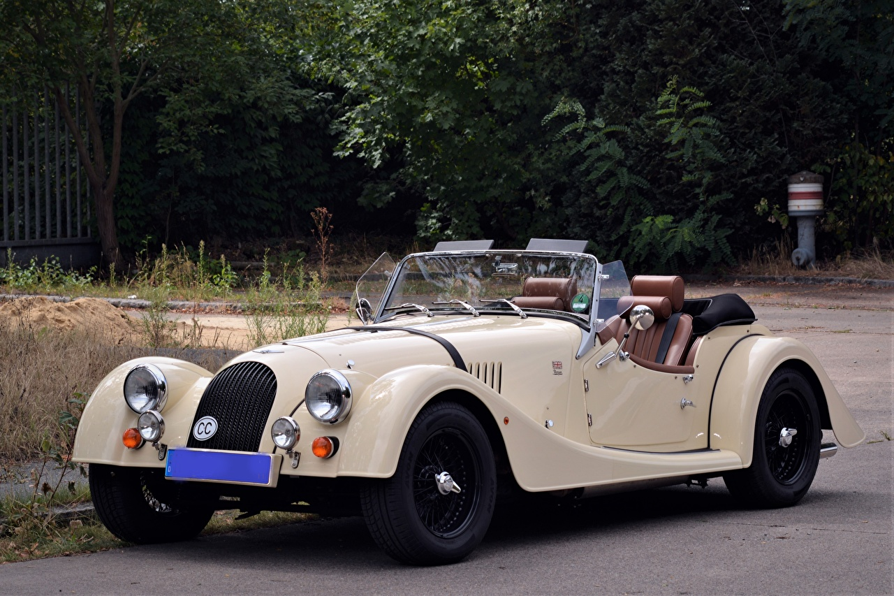 Pictures Morgan Roadster Cabriolet Retro White auto Convertible vintage antique Cars automobile