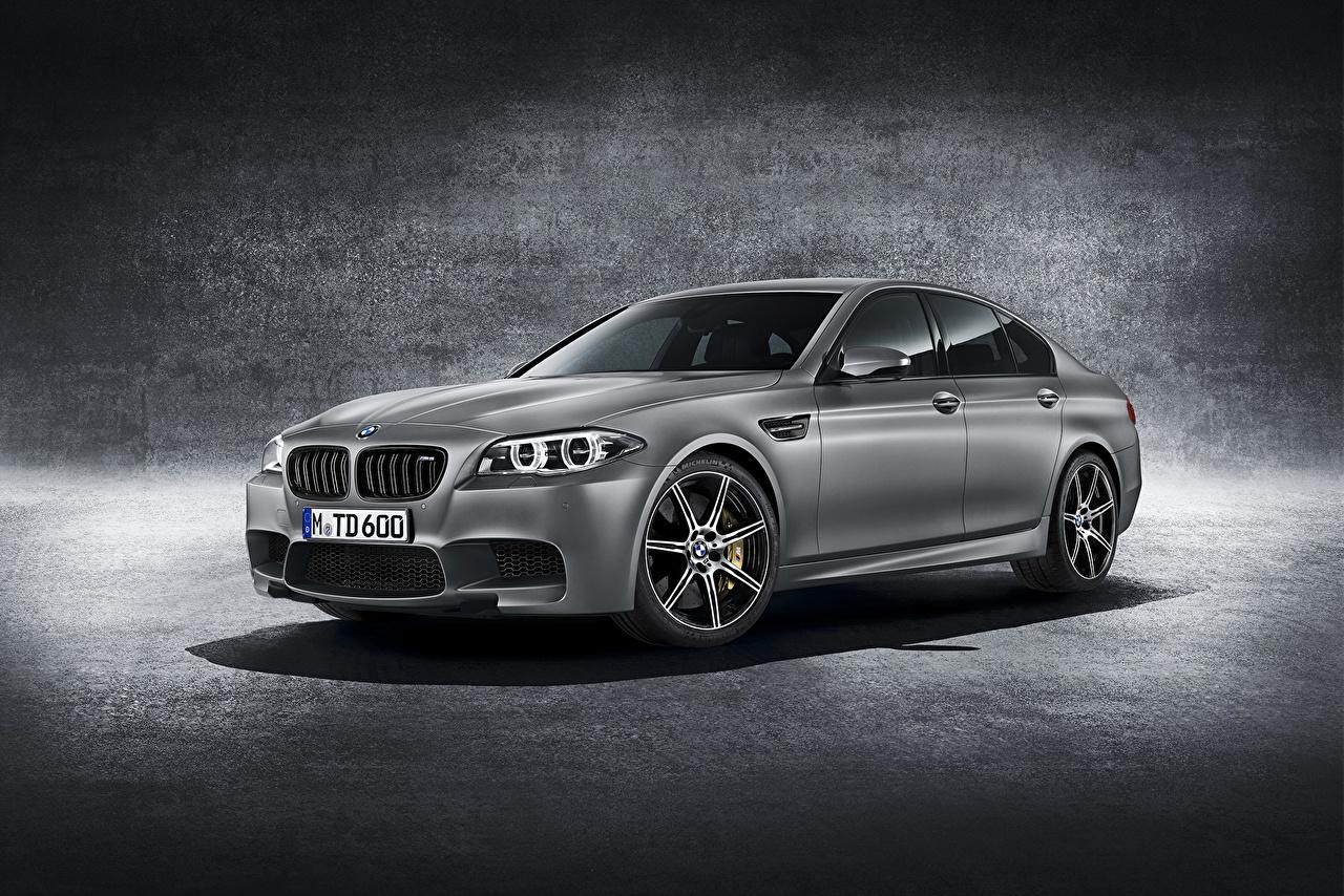 Desktop Wallpapers BMW 2014 M5 Grey Cars gray auto automobile
