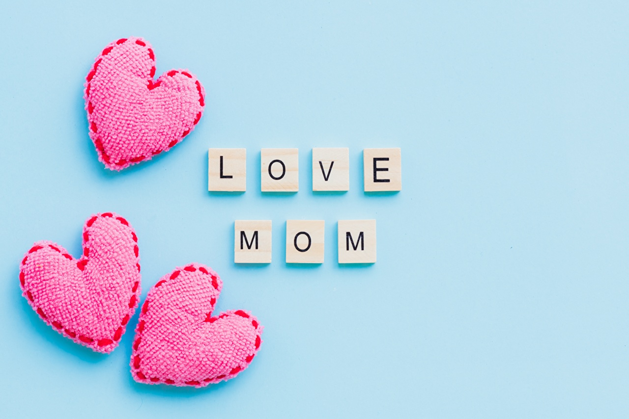 Photos Mother's Day Heart Colored background