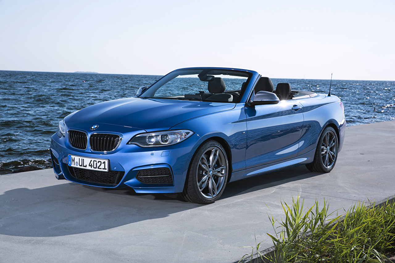Wallpaper BMW 2014 M235i F23 convertible Cabriolet Light Blue auto Metallic Convertible Cars automobile