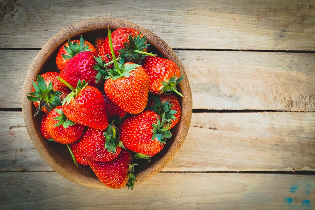 ,草莓,碗,木板,食品,食物,