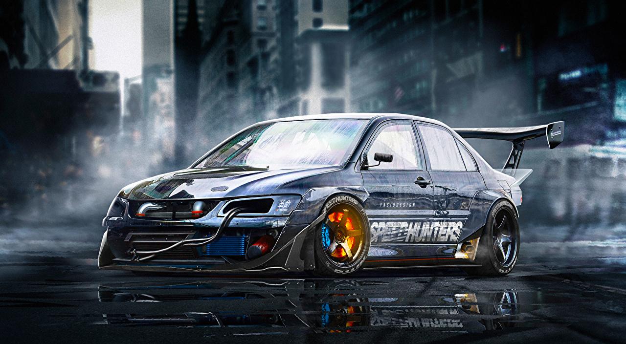 Desktop Hintergrundbilder Mitsubishi Lancer Evolution 9
