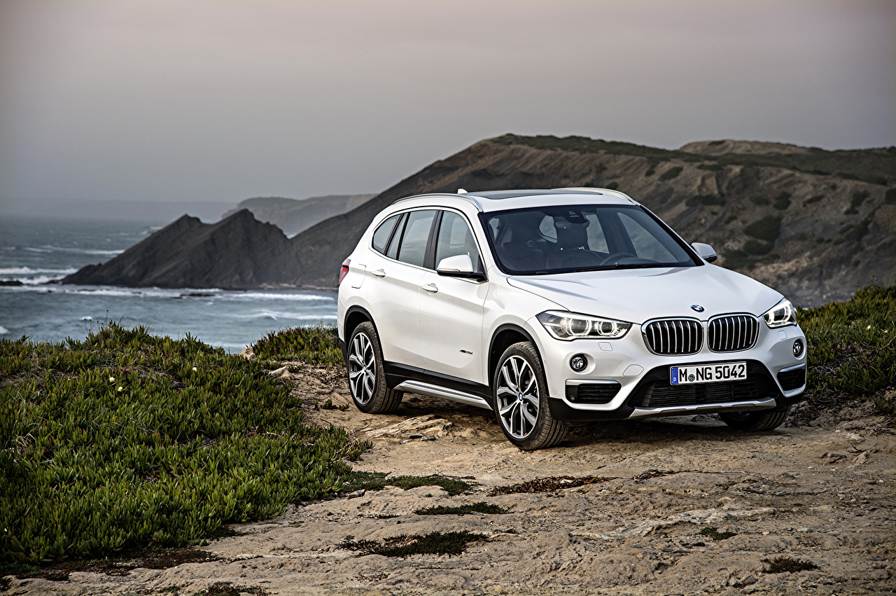 Pictures BMW 2015 X1 F48 xDrive20d White Cars auto automobile