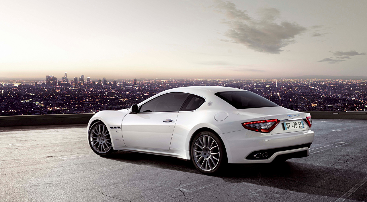 Desktop Wallpapers Maserati Coupe White auto Metallic Cars automobile