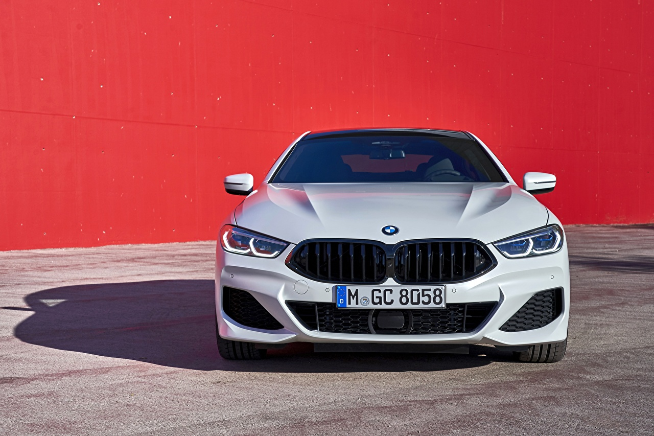 Images BMW G16 8-Series 2019 Gran Coupe White Cars Front Metallic auto automobile