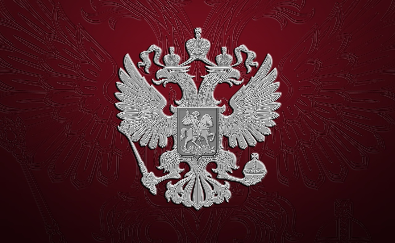 Achtergronden Rusland Russische Wapen heraldiek dubbele adelaar Rode achtergrond Dubbelkoppige adelaar