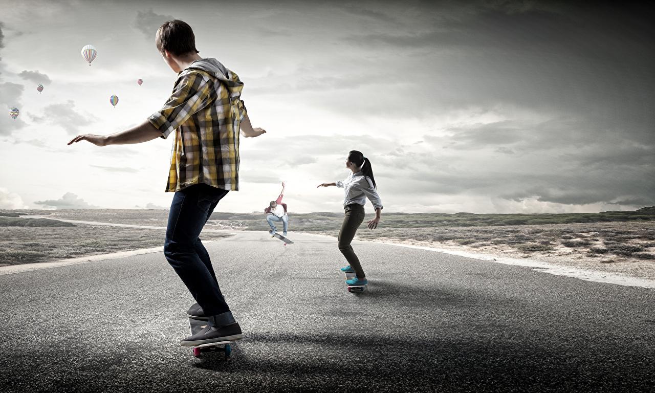 Fonds D Ecran Skateboard Homme Routes Entrainement Sport Filles Telecharger Photo