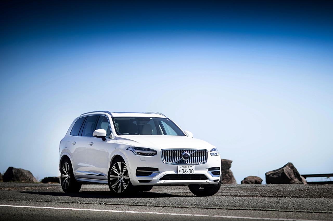 Pictures Volvo CUV XC90 T8 Twin Engine Inscription, 2020 White Cars Metallic Crossover auto automobile