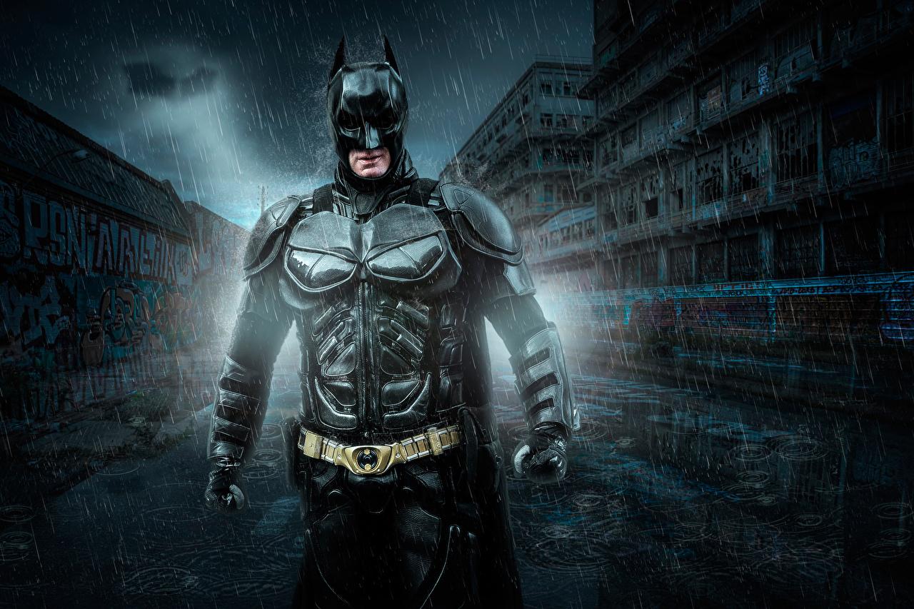 壁紙 バットマン 男性 雨 鎧 ファンタジー ダウンロード 写真
